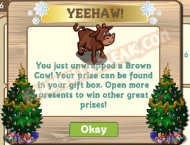 farmville brown cow unwrapped