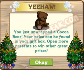 farmville cocoa bear unwrapped