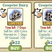 FarmVille cowprint limited edition items arrive, one week only