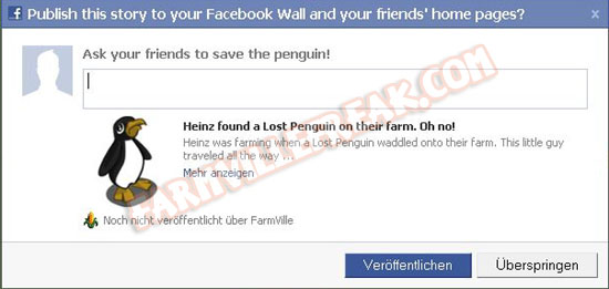 farmville freak devs penguin adoption notice