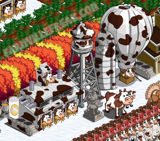 farmville freak mohameds cowprint decorations
