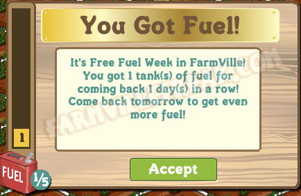 farmville free fuel notice