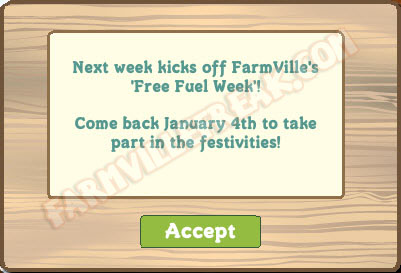 farmville free fuel week reminder