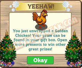 farmville golden chicken unwrapped