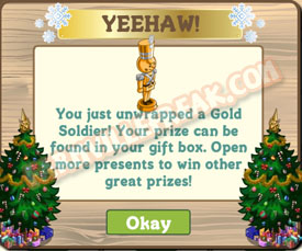 farmville golden soldier unwrapped