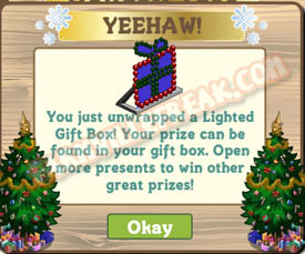 farmville lighted gift box unwrapped