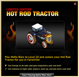 farmville limited edition hot rod tractor