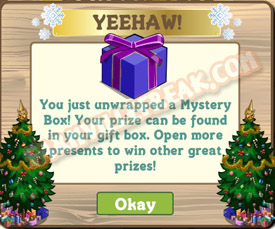 farmville mystery blue/purple box unwrapped