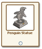 farmville penguin statue giftable