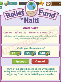 farmville relief for haiti details