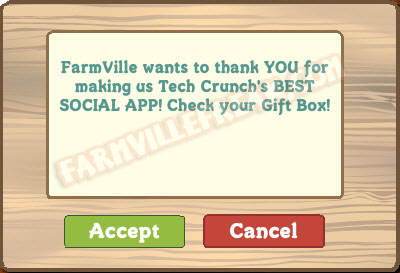 farmville tech crunch winner notice