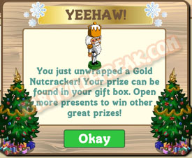 farmville white and gold soldier unwrapped