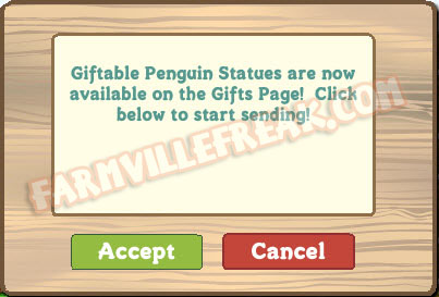 giftable penguin statue notice