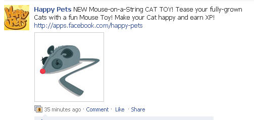 happy pets new mouse on a string cat toy