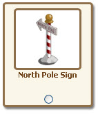 farmville north pole sign giftable