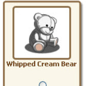 New FarmVille giftables: Whipped Cream and Caramel Bear, Evergreen Tree