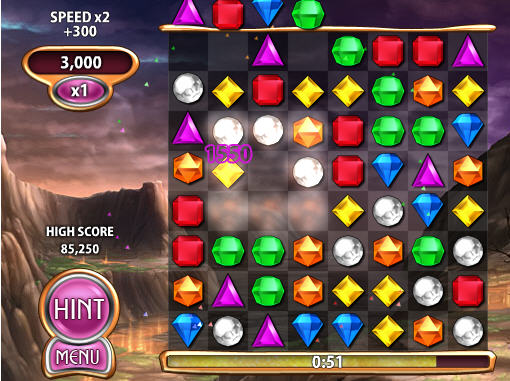 bejeweled blitz is the second most popular game played according to this survey