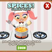 Cafe World spice rack coming soon
