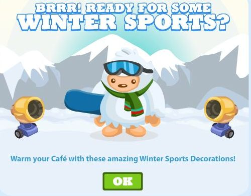 Cafe World Winter Sports Decorations