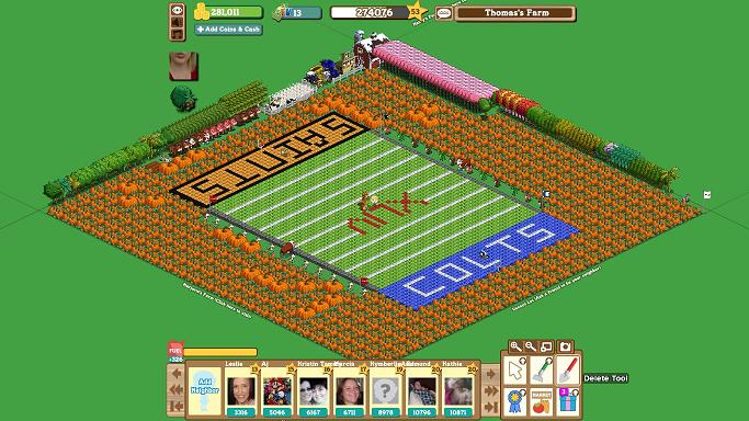 FarmVille Freak Mr. Tall One's Super Bowl Farm