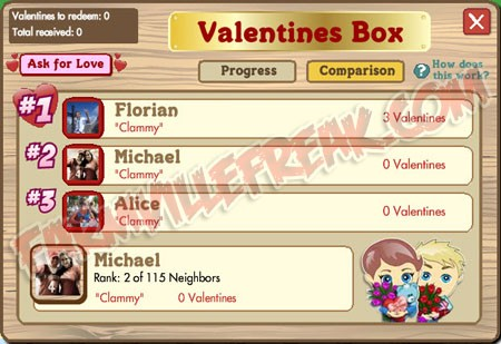 FarmVille Valentines Box Comparison