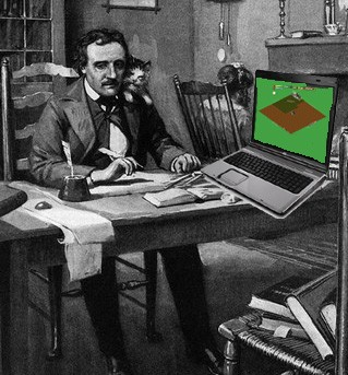 Looks like Mr. Poe is a bit distracted with FarmVille