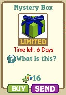 Farmville lime green and cobalt mystery box