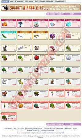 facebook farmville freak updated gift page