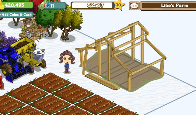 farmville horse stable frame