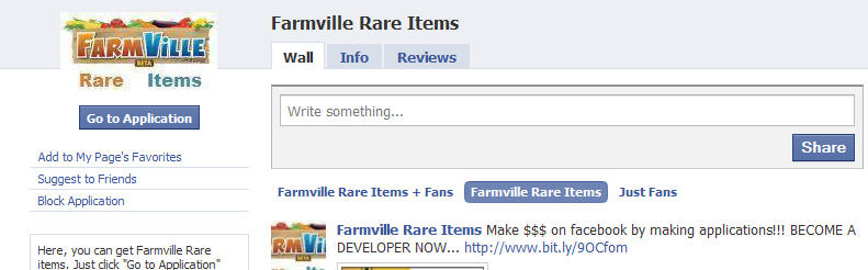 farmville rare items -- another in a long line of FarmVille scams
