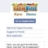 FarmVille Rare Items: Another scam tr