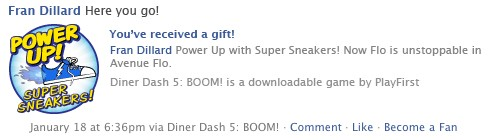 Diner Dash 5 Boom with Facebook Connect