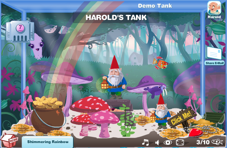 Happy Aquarium Fairyland Demo Tank.