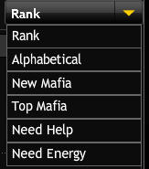 mafia wars drop down menu