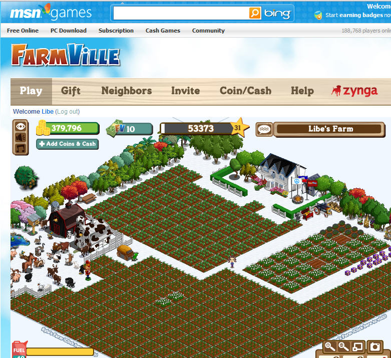 farmville expands with new home on MSN Games
