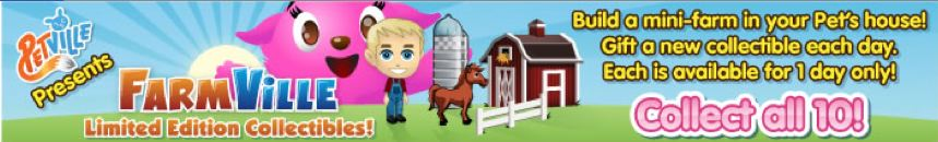 Farmville in Petville limited edition collectibles