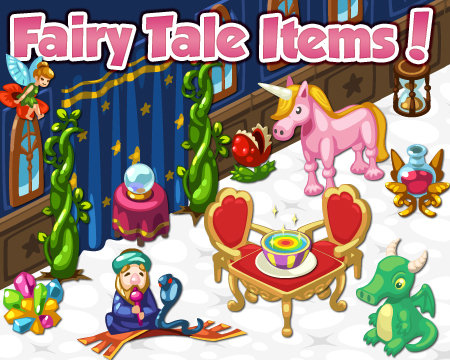 Restaurant City's new Fairy Tale Items