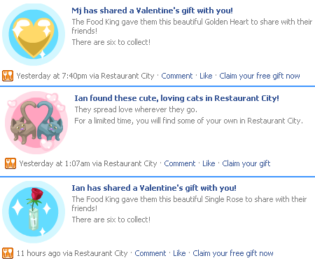 Valentine's gifts available from Food King.