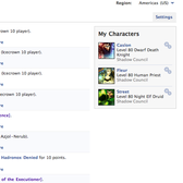 World of Warcraft Facebook Armory App touts in-game progress