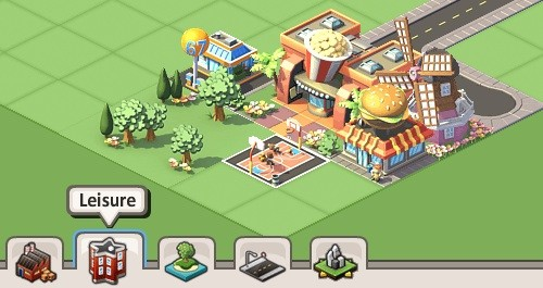 social city cheats and tips: build leisure building to keep pop happy