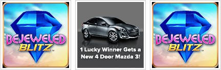 bejeweled blitz-- use those skills to win a Mazda!