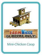Cafe World FarmVille giftable -- Mini-Chicken coop