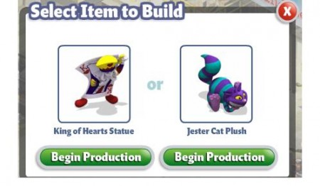 YoVille Select Item to Build