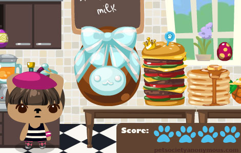 Easter Egg decorating in Pet Society