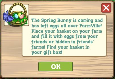 farmville spring basket arrive