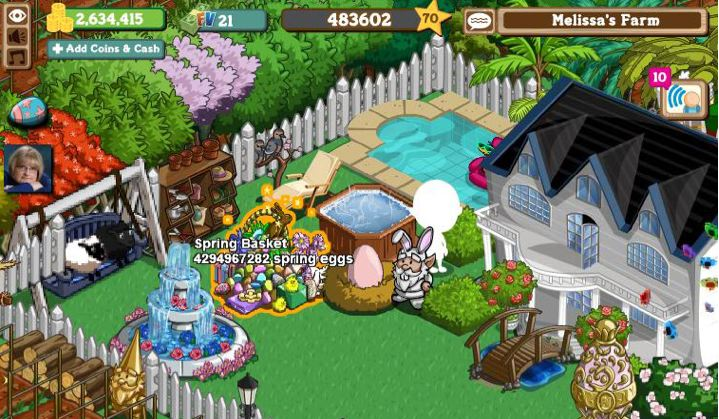 farmville spring basket glitch -- whoa!