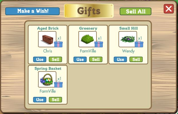 farmville gifts