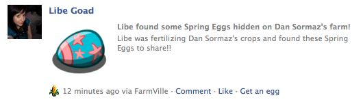 farmville easter eggs wall post