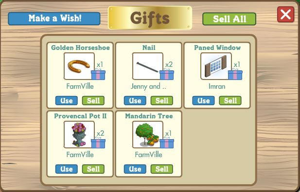farmville golden horse shoe can be found in the gift box