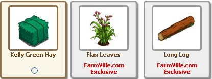 New Giftables along with 2 FarmVille.com Exclusives